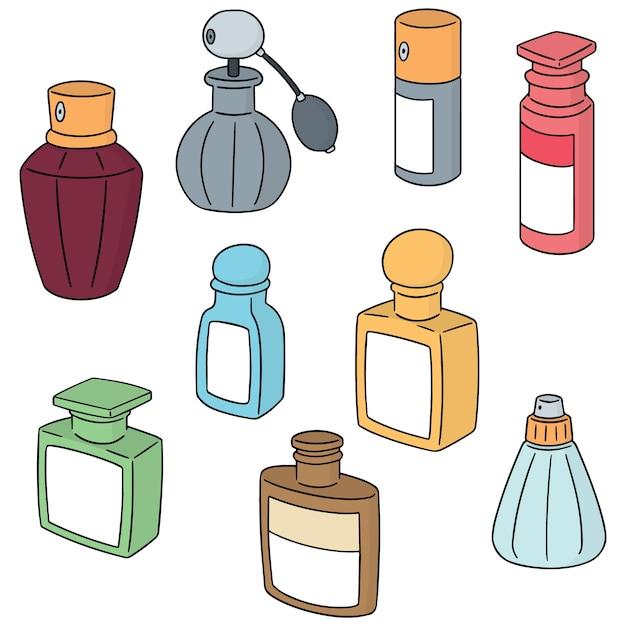 Wektor Zestaw Butelki Perfum Premium Wektorów