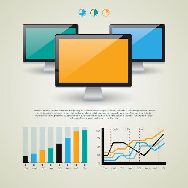Wektor Zestaw Elementów Infograficznych Dla Dokumentów Premium Wektorów