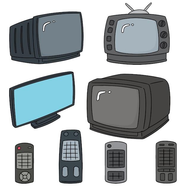 Wektor zestaw telewizji Premium Wektorów