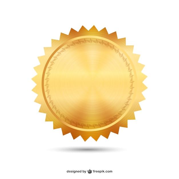 Wektor złota pieczęć Darmowych Wektorów