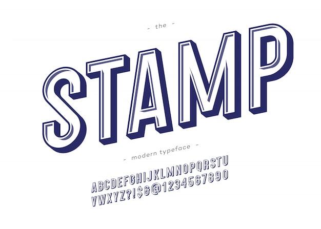 Wektor znaczka pogrubioną czcionką modną typografią Premium Wektorów