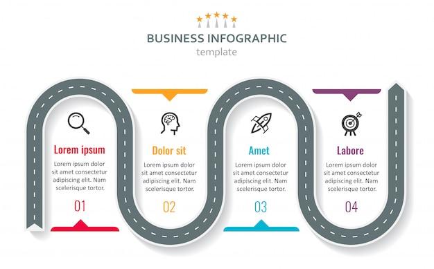 Wektora Infographic Szablon Premium Wektorów