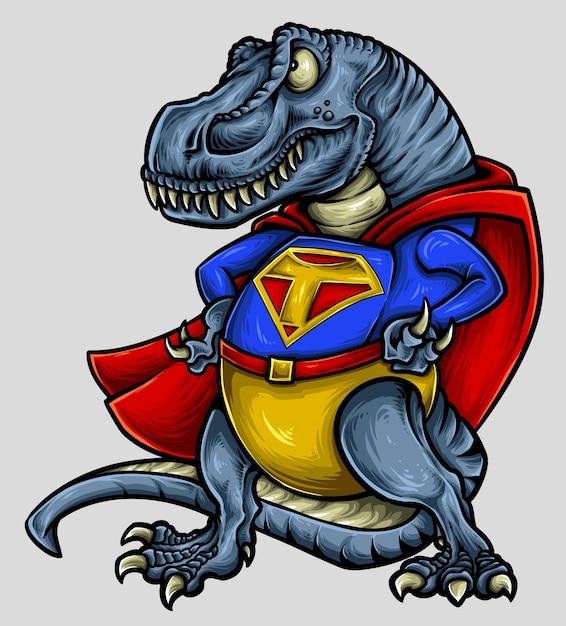 Wektorowa Ilustracja Dinosaura T-rex Charakteru Projekt Premium Wektorów