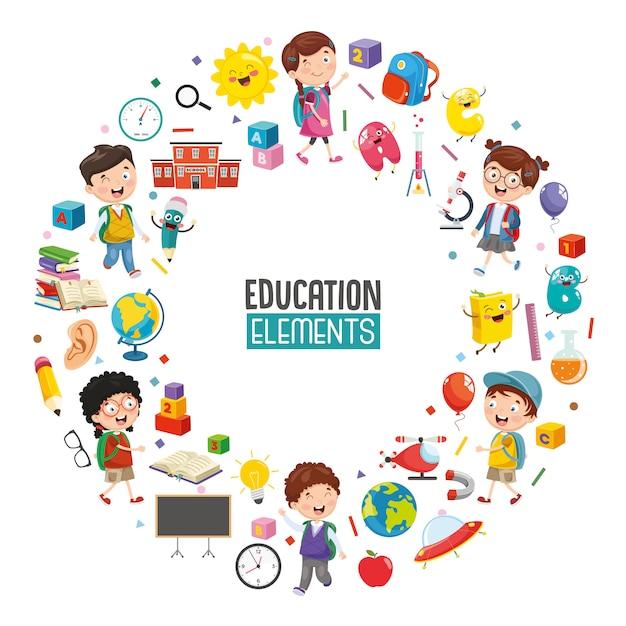 Wektorowa ilustracja edukaci pojęcia projekt Premium Wektorów