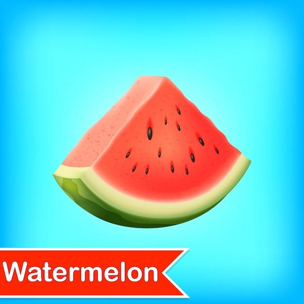 Wektorowa ilustracja wodny melon Premium Wektorów