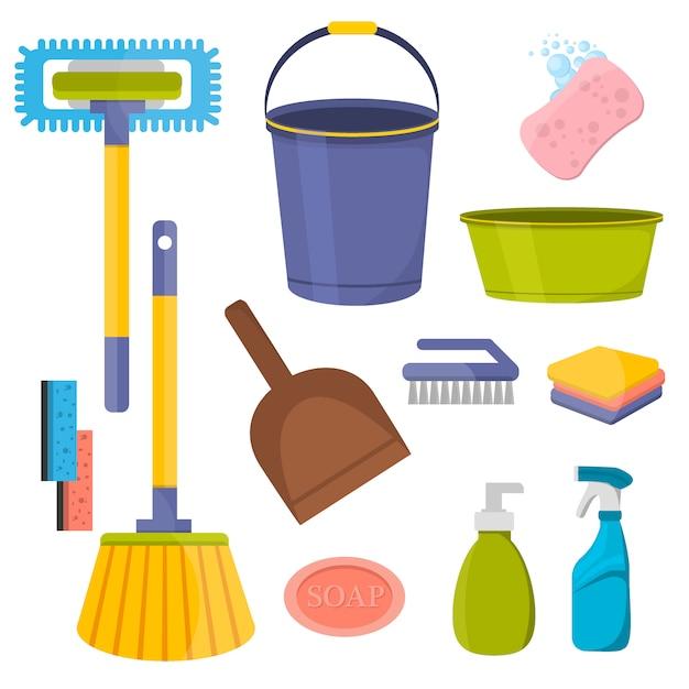Wektorowe narzędzia do czyszczenia Premium Wektorów