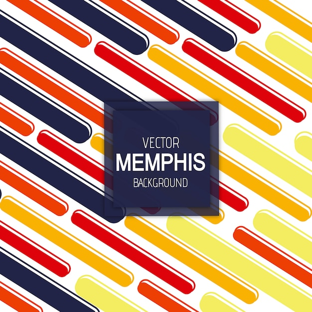 Wektorowy Kolorowy Memphis Tło Premium Wektorów