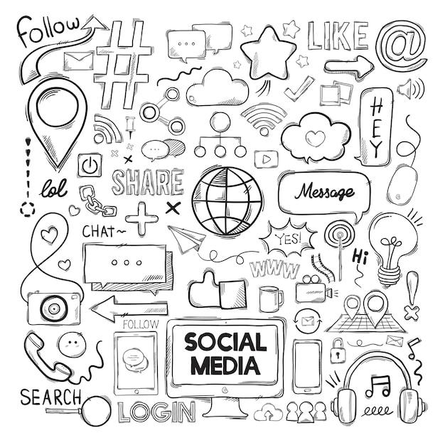 Wektorowy Ustawiający Ogólnospołeczne Medialne Ikony Darmowych Wektorów
