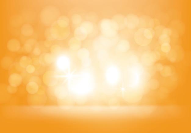 Wektorowy żółty Abstrakcjonistyczny Tło Z Błyskami Darmowych Wektorów