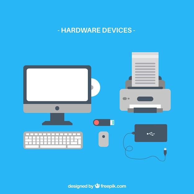 Wektory urządzenia komputerowego hardware ikona Darmowych Wektorów
