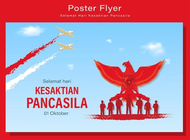 Wesołego Dnia Pancasila Premium Wektorów