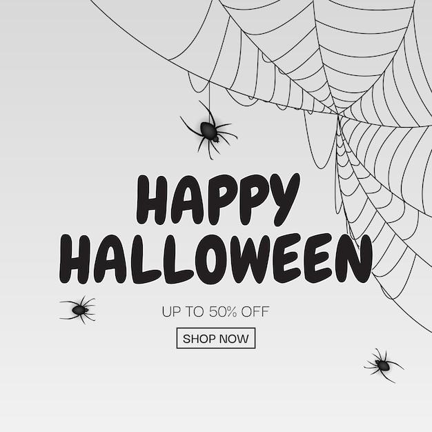 Wesołego Halloween, Kup Teraz Plakat Szablon Tło. Ilustracja Premium Wektorów
