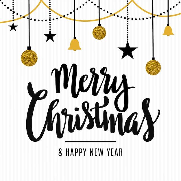 Wesołych świąt bożego narodzenia dekoracyjne tło Darmowych Wektorów