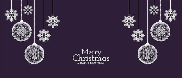 Wesołych świąt Bożego Narodzenia Dekoracyjne Darmowych Wektorów