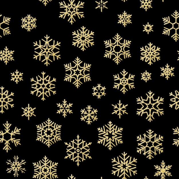 Wesołych świąt Bożego Narodzenia Efekt Dekoracji. Wzór Złoty śnieżynka. Premium Wektorów