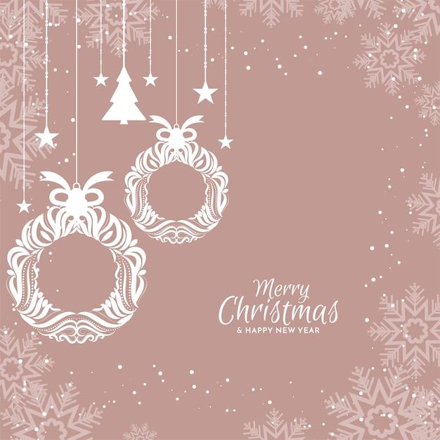 Wesołych świąt Bożego Narodzenia Eleganckie Tło Płaska Konstrukcja Darmowych Wektorów