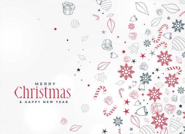 Wesołych świąt bożego narodzenia element ozdobny wzór tła Darmowych Wektorów
