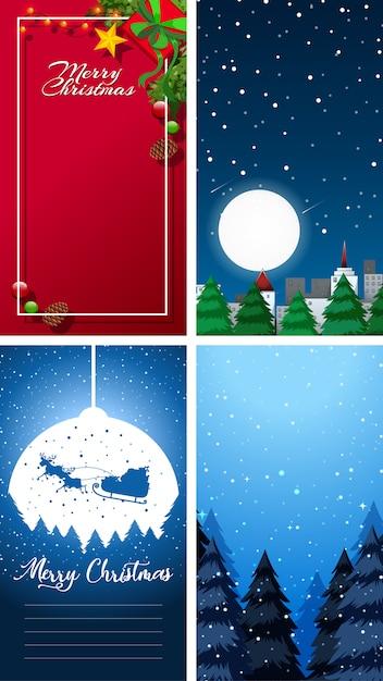 Wesołych świąt Bożego Narodzenia Kartkę Z życzeniami Lub List Do świętego Mikołaja Z Szablonu Tekstu Darmowych Wektorów