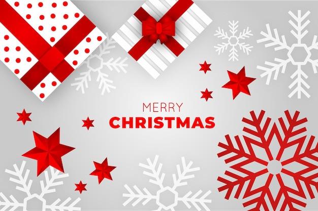 Wesołych świąt bożego narodzenia koncepcja tło Darmowych Wektorów