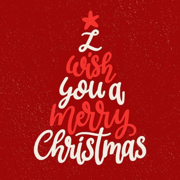 Wesołych świąt Bożego Narodzenia Napis Darmowych Wektorów