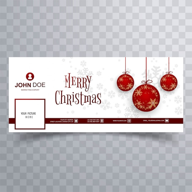 Wesołych świąt bożego narodzenia piłka szablon transparent tło Darmowych Wektorów