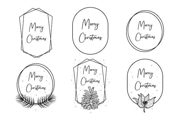 Wesołych świąt Bożego Narodzenia Tekst Z Geometrycznymi Kształtami. Projekt Karty Z Pozdrowieniami, Szablon. Premium Wektorów