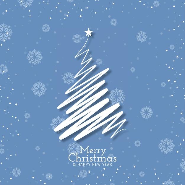 Wesołych świąt Bożego Narodzenia Tło Festiwalu Z Nowoczesnym Drzewem Darmowych Wektorów