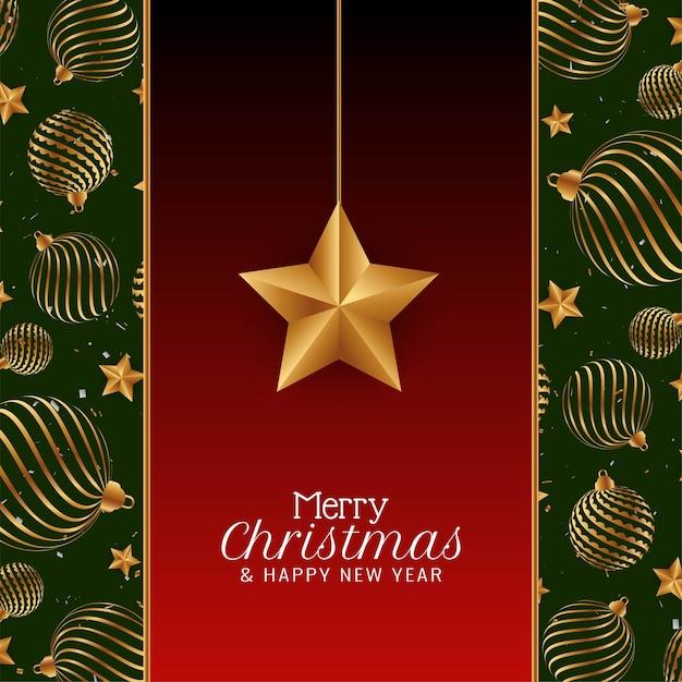Wesołych świąt Bożego Narodzenia Tło Powitanie Festiwalu Darmowych Wektorów