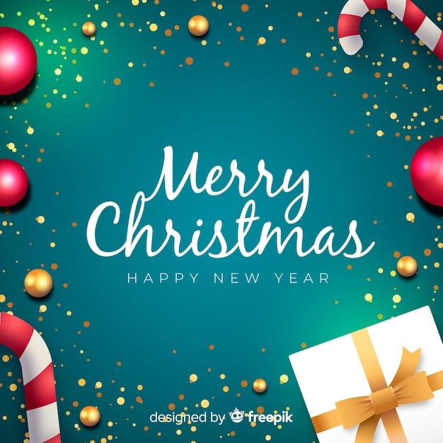 Wesołych świąt bożego narodzenia tło Darmowych Wektorów