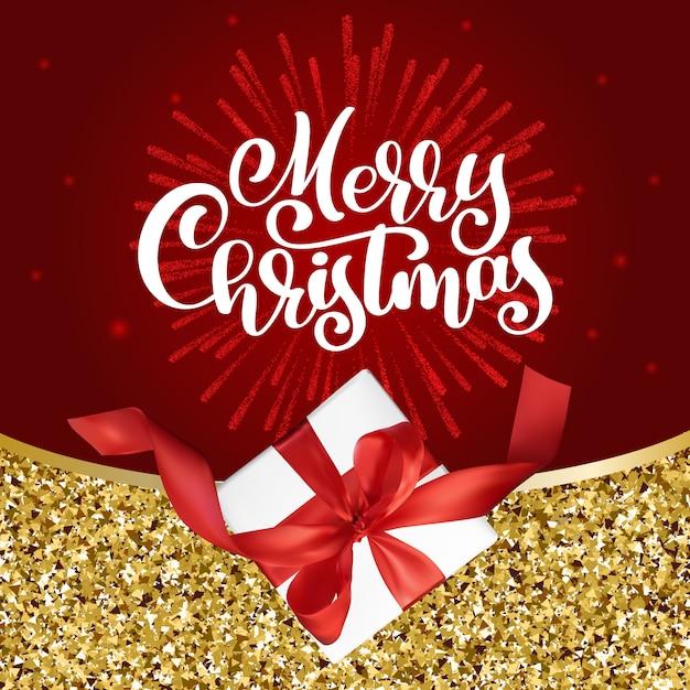Wesołych świąt Bożego Narodzenia Tło Premium Wektorów