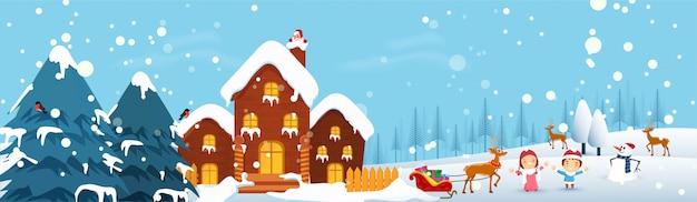 Wesołych świąt Bożego Narodzenia. Premium Wektorów