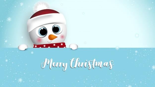 Wesołych świąt I Szczęśliwego Nowego Roku Banner Premium Wektorów