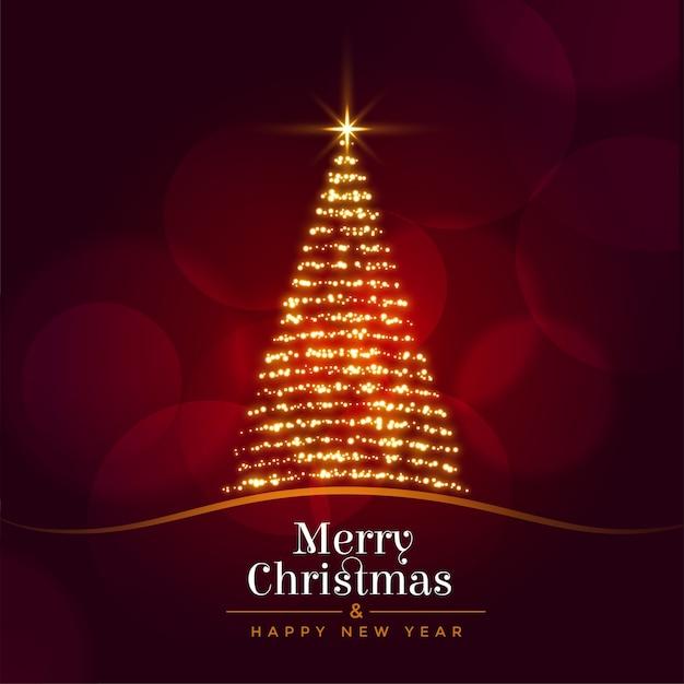 Wesołych świąt I Szczęśliwego Nowego Roku Kartkę Z życzeniami Darmowych Wektorów