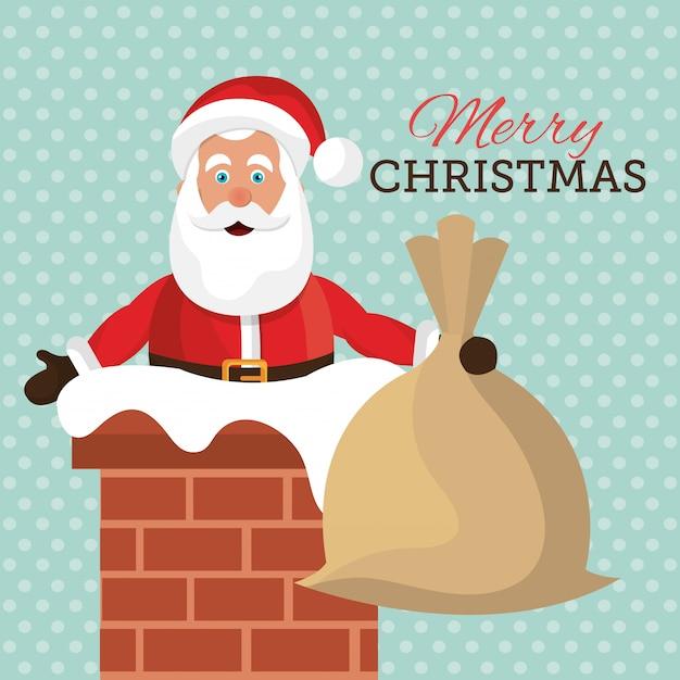 Wesołych świąt I Szczęśliwego Nowego Roku Projekt Karty Darmowych Wektorów