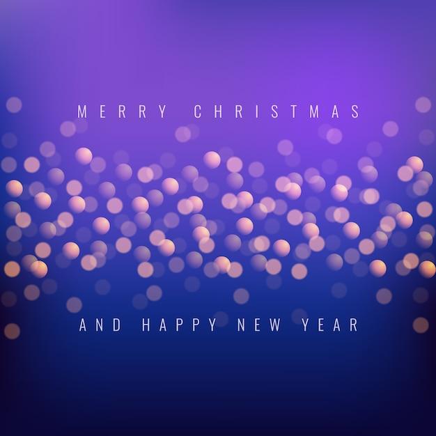 Wesołych świąt i szczęśliwego nowego roku Premium Wektorów