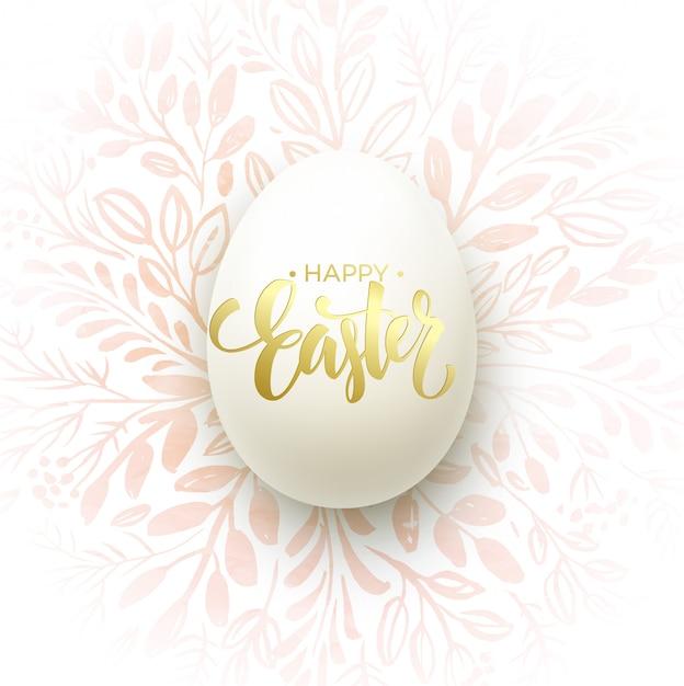 Wesołych świąt Napis Na Wieniec Akwarela Z Jajkami Premium Wektorów