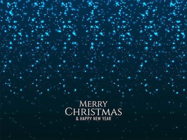 Wesołych świąt świecące niebieskie tło błyszczy Darmowych Wektorów