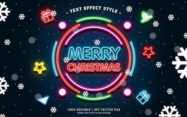 Wesołych świąt Więcej Banner Prezentowy Z Efektami Neonowym Stylem Premium Wektorów