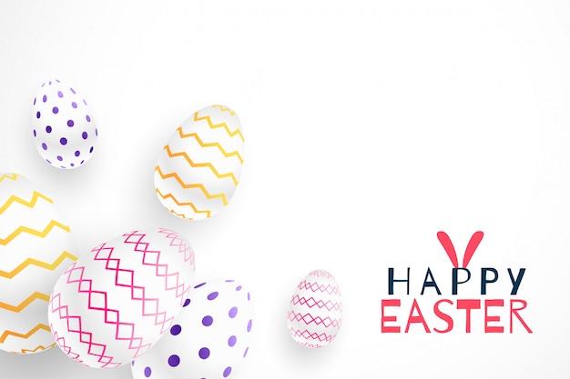 Wesołych świąt Wielkanocnych 3d Realistyczne Jaja Darmowych Wektorów