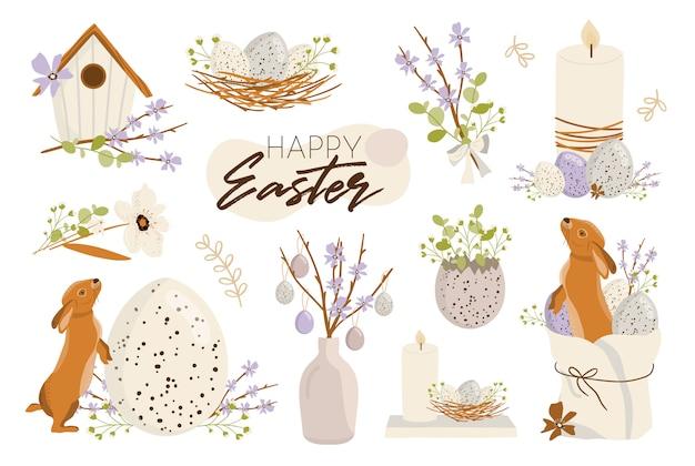 Wesołych świąt Wielkanocnych Ilustracji Premium Wektorów