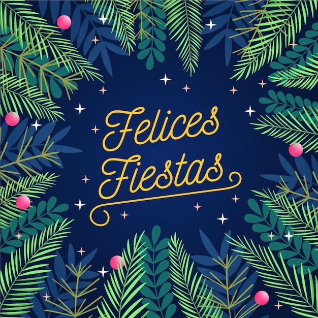Wesołych świąt Z Gałęziami Drzew Darmowych Wektorów