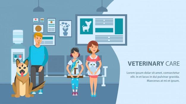 Weterynaryjny Kliniki Szablon Transparent Wektor Koloru Premium Wektorów