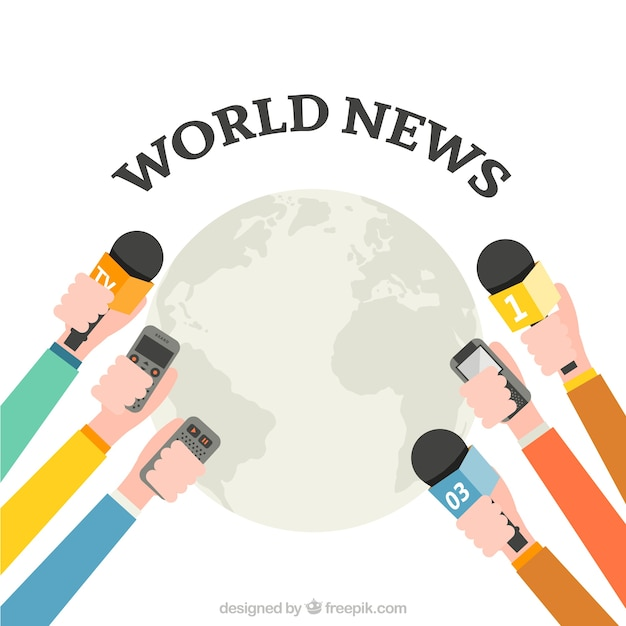 Wiadomości Ze świata Darmowych Wektorów