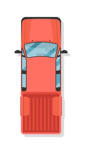 Widok Z Góry Podnieść Ciężarówkę Na Białym Tle Premium Wektorów