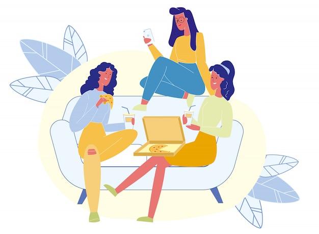 Wieczór Panieński, Ilustracja Wektorowa Przyjaźń Kobiet Premium Wektorów