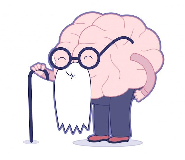 Wiek, mózg Premium Wektorów