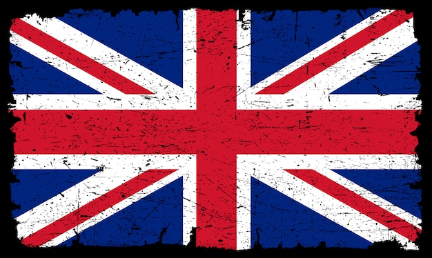 Wielka brytania stara flaga Premium Wektorów