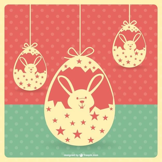 Wielkanoc Zabytkowe Szablonu Darmowych Wektorów