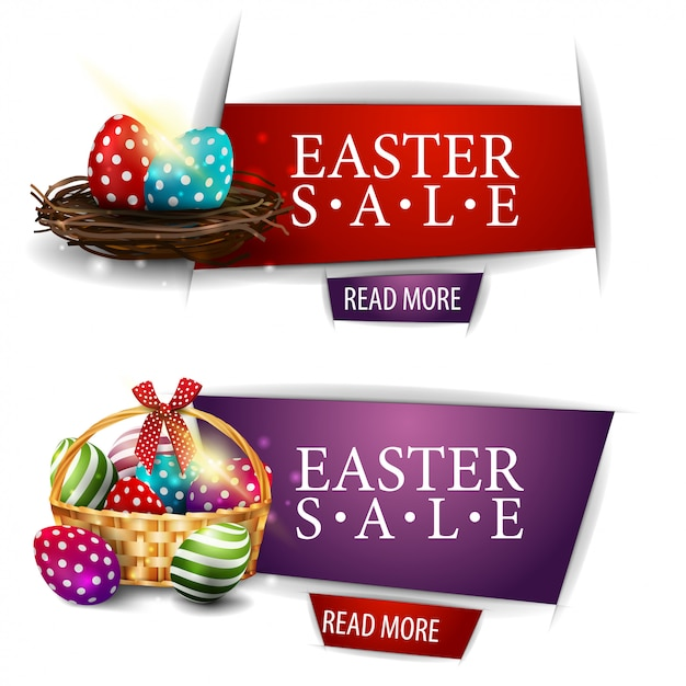 Wielkanocny Sztandar Sprzedaży Premium Wektorów