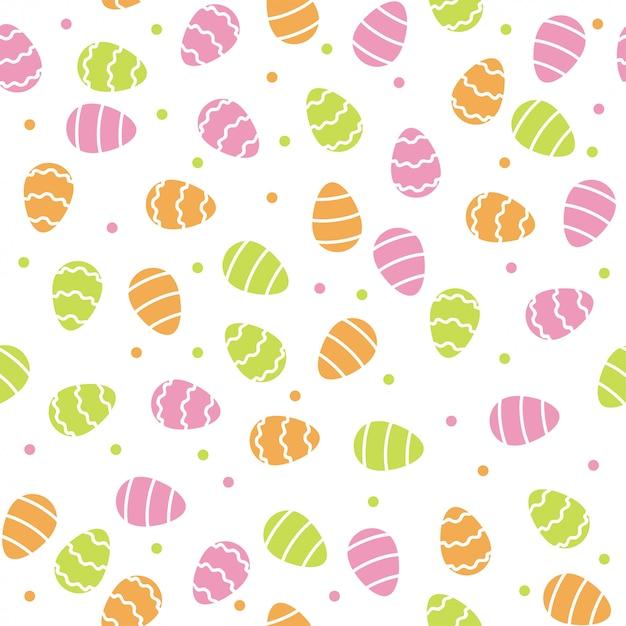 Wielkanocnych jajek deseniowy tło Premium Wektorów